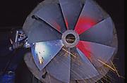 Welding giant hydro turbine, American Hydro, York, PA