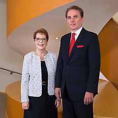 President and Provost in Library