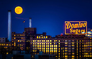 Supermoon over Baltimore, Maryland.