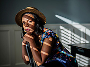 Smyrna, Tenn. -  Tamiko Robinson Steele, 38, actor and Nashville native, poses for a portrait in her home. Steele had to take a job at an Amazon warehouse for 2.5 months and drove Uber Eats after work dried up. <br /> <br /> CREDIT: William DeShazer