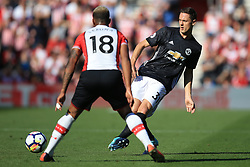 23 September 2017 -  Premier League - Southampton v Manchester United - Nemanja Matic of Manchester United in action with Mario Lemina of Southampton - Photo: Marc Atkins/Offside