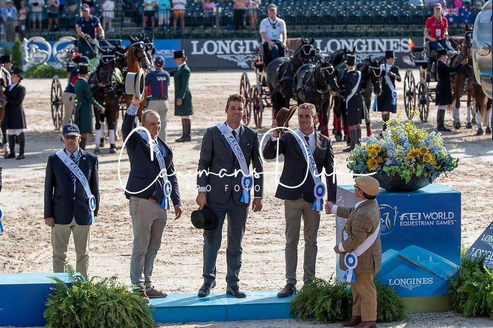 Team BEL, Degrieck Dries, Geerts Glenn, BEL, Simonet Edouard, BEL, Wentein Mark, BEL<br /> World Equestrian Games - Tryon 2018<br /> © Hippo Foto - Dirk Caremans<br /> 23/09/2018