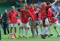 Ronaldo (Utd) dances around the trophy. Manchester United v Milwall. FA Cup Final 2004 @  The Millennium Stadium,Cardiff. 22/5/2004. <br /> <br /> <br /> Foto: Colorsport/Digitalsport<br /> NORWAY ONLY