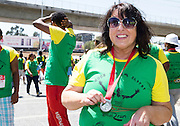 22/11/2015  repro fee. A group of  irish people travelled with Gorta-Self Help Africa travelled to the capital of Ethiopia Addis Ababa for the great Ethiopian run. In temperatures in the mid 30 degree heat and 40,000 people and a city at 7,500 feet above sea level, it's no mean feat. Imelda  Finnegan from Galway finish the race in a great time    .  Photo:Andrew Downes.