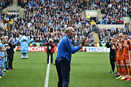 Steve Ogrizovic takes a guard of honour on the pitch as he retires during the EFL Sky Bet League 1 match between Coventry City and Shrewsbury Town at the Ricoh Arena, Coventry, England on 28 April 2019.