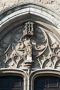 Südportal Stiftskirche St. Waltrudis, Mons, Hennegau, Wallonie, Belgien, Europa   abbey church Saint Waltrude, Mons, Hennegau, Wallonie, Belgium, Europe