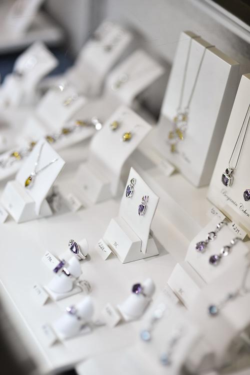 Assorted jewelry for sale at C.L. Davis Jewelers.