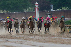 May 4, 2019 - Louisville, KY, U.S. - LOUISVILLE, KY - MAY 04: Kentucky  Derby jockey Luis Saez rides Maximum Security (7) down the back stretch and battles with Kentucky  Derby jockey Flavien Prat who rode Country House  (20) during the 145th running of the Kentucky Derby on May 4, 2019 at Churchill Downs, in Louisville, KY.(Photo by Jeffrey Brown/Icon Sportswire) (Credit Image: © Jeffrey Brown/Icon SMI via ZUMA Press)