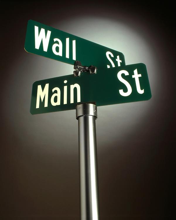 Wall Street Main Street Sign