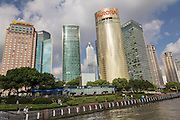 View of the Lujiazui skyline in Pudong area of Shanghai, China