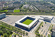 Nederland, Noord-Brabant, Breda, 23-08-2016; <br /> Voetbalstadion van NAC Breda, Rat Verlegh Stadion.<br /> Football stadium NAC Breda, the Rat Verlegh Stadium.<br /> <br /> aerial photo (additional fee required); <br /> luchtfoto (toeslag op standard tarieven); copyright foto/photo Siebe Swart