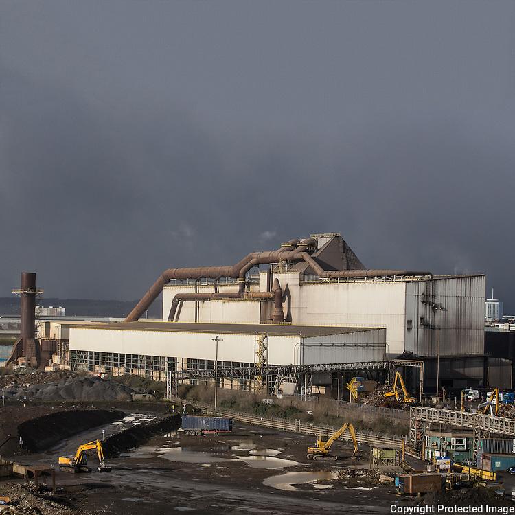 Melt-shop II, Celsa Steel, Tremorfa, Cardiff, Gwent.