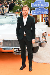 © Licensed to London News Pictures. 19/05/2016. SHANE BLACK, JOEL SILVER, RYAN GOSLING, RUSSELL CROWE and  MATT BOMER and ANGOURIE RICE attend The Nice Guys UK film premiere. London, UK. Photo credit: Ray Tang/LNP