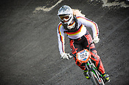 #124 (RUNGE Regula) GER at the UCI BMX Supercross World Cup in Papendal, Netherlands.