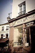 Boulangerie (bakery) and Le Consulat Restaurant, Montmartre, Paris, France