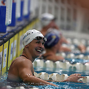 Lisbeth Trickett after the Women's 50m freestyle semi final during the Australian Swimming Championships and Selection Trials for the XIII Fina World Championships held at Sydney Olympic Park Aquatic Centre, Sydney, Australia on March 20, 2009. Photo Tim Clayton