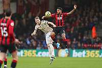 Football - 2019 / 2020 Premier League - AFC Bournemouth vs. Manchester United<br /> <br /> Bournemouth's Joshua King controls a ball whilst under pressure from Scott McTominay of Manchester United during the Premier League match at the Vitality Stadium (Dean Court) Bournemouth  <br /> <br /> COLORSPORT/SHAUN BOGGUST