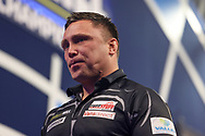 Gerwyn Price moved to tears after winning the match during the William Hill World Darts Championship Semi-Finals at Alexandra Palace, London, United Kingdom on 2 January 2021.