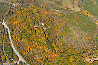 Aerial photo of vibrant Fall colors in Middle Tennesse.