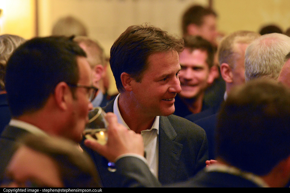 © Licensed to London News Pictures. 11/09/2013. London, UK Nick Clegg. The Deputy Prime Minister, Nick Clegg, hosts a reception at Admiralty House in Whitehall this evening, 11 September 2013, to celebrate the government's progress in equal marriage. From next year gay people will be able to get married. A number of high profile guests including openly supportive celebrities, campaigners, religious figures and charities were in attendance.<br /> The London Gay Men Chorus Ensemble performed at the event. . Photo credit : Stephen Simpson/LNP