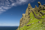 Steps leading up to hermitage on Skellig Michael, County Kerry, Ireland