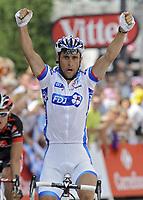 Sykkel<br /> Tour de France 2010<br /> 13.07.2010<br /> Foto: PhotoNews/Digitalsport<br /> NORWAY ONLY<br /> <br /> SANDY CASAR<br /> <br /> ETAPE 9 : MORZINE AVORIAZ - SAINT-JEAN-DE-MAURIENNE