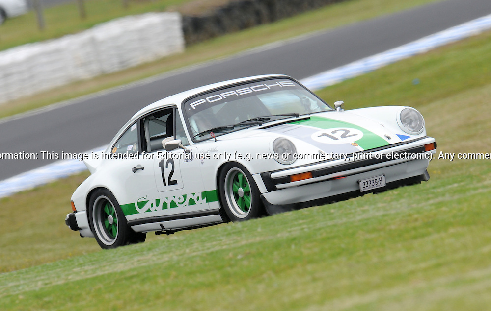 David Withers - Group Sc - Porsche 911 Carrera.Historic Motorsport Racing - Phillip Island Classic.18th March 2011.Phillip Island Racetrack, Phillip Island, Victoria.(C) Joel Strickland Photographics.Use information: This image is intended for Editorial use only (e.g. news or commentary, print or electronic). Any commercial or promotional use requires additional clearance.