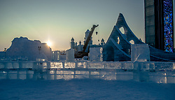 August 14, 2017 - Harbi, Harbi, China - Harbin, CHINA(EDITORIAL USE ONLY. CHINA OUT) ..Winter scenery of Harbin in northeast China's Heilongjiang Province. Having the most bitterly cold winters among major Chinese cities, Harbin is heralded as the Ice City for its well-known winter tourism and recreations. (Credit Image: © SIPA Asia via ZUMA Wire)