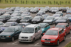 Cars on Park and Ride city scheme.