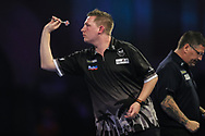 Chris Dobey during his fourth round match with Gary Anderson during the World Darts Championships 2018 at Alexandra Palace, London, United Kingdom on 27 December 2018.