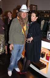 NICKY HASLAM and VICTORIA FERNANDEZ at a jewellery party hosted by Osanna Visconti and Pia Marocco at Allegra Hick's shop, 28 Cadogan Place, London on 25th November 2004.<br /><br />NON EXCLUSIVE - WORLD RIGHTS