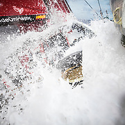 Leg 4, Melbourne to Hong Kong, day 13 on board MAPFRE, A winch between water. Photo by Ugo Fonolla/Volvo Ocean Race. 13 January, 2018.