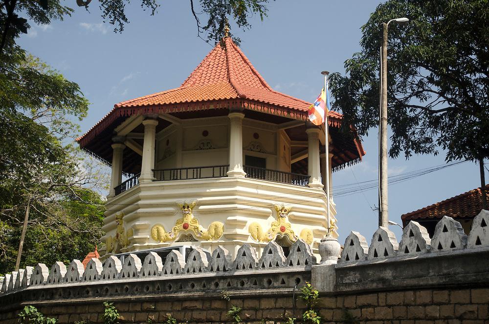 Detail of buddhist temple in Kandy, Sri Lanka