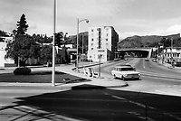 1971 Looking north on Cahuenga Blvd from Franklin Ave.