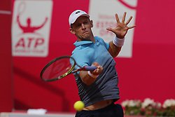 May 3, 2018 - Estoril, Estoril, Portugal - Kevin Anderson from South African in action during the match between Kevin Anderson and Stefanos Tsitsipas for Millennium Estoril Open 2018 at Clube de Tenis do Estoril on May 03, 2018 in Estoril, Portugal. (Credit Image: © Dpi/NurPhoto via ZUMA Press)
