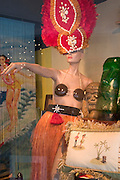 Mannequin modeling South Seas' wear on Corey Avenue.  St. Pete Beach Tampa Bay Area Florida USA