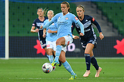November 16, 2018 - Melbourne, Victoria, Australia - LAUREN BARNES (3) of Melbourne City controls the ball in round 3 of the W-League competition between Melbourne City and Melbourne Victory during the 2018 season at AAMI Park, Melbourne, Australia. The Westfield W-League is Australia's national women's semi-professional soccer league. Melbourne Victory won 2-0. (Credit Image: © Sydney Low/ZUMA Wire)