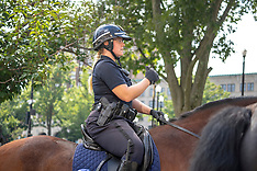 Rosie O'Donnell's fiance, Elizabeth Rooney at work as a Mounted Police Officer - 31 OCt 2018