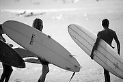 Long Board Surfers
