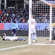 NEW YORK, NEW YORK - March 18: Rodney Wallace #23 of New York City FC celebrates after scoring during the New York City FC Vs Montreal Impact regular season MLS game at Yankee Stadium on March 18, 2017 in New York City. (Photo by Tim Clayton/Corbis via Getty Images)