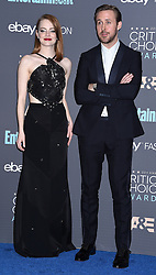22nd Annual Critics' Choice Awards Press Room in Santa Monica, CA. 11 Dec 2016 Pictured: Emma Stone, Ryan Gosling. Photo credit: American Foto Features / MEGA TheMegaAgency.com +1 888 505 6342