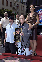 """2011 Robert Duvall and his wife, Luciana Pedraza and Billy """"Bob"""" Thorton during Duvall's Walk of Fame ceremony"""
