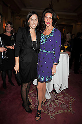 Left to right, JESSICA DE ROTHSCHILD and CHRISTINA ESTRADA-JUFFALI at a reception to launch Films Without Borders held The Lanesborough Hotel, London on 8th October 2009.