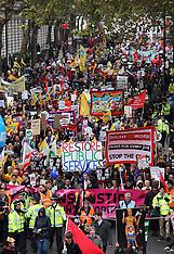 Public sector strike & march