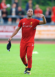 ROTTACH-EGERN, GERMANY - Friday, July 28, 2017: Liverpool's Daniel Sturridge after a training session at FC Rottach-Egern on day three of the preseason training camp in Germany. (Pic by David Rawcliffe/Propaganda)