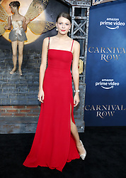 Flora Ogilvy at the Los Angeles premiere of Amazon's 'Carnival Row' held at the TCL Chinese Theatre in Hollywood, USA on August 21, 2019.