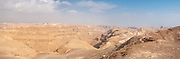 Negev Desert Landscape Panorama. Photographed in Nahal  Tzeelim [Tze'eelim Stream] in December