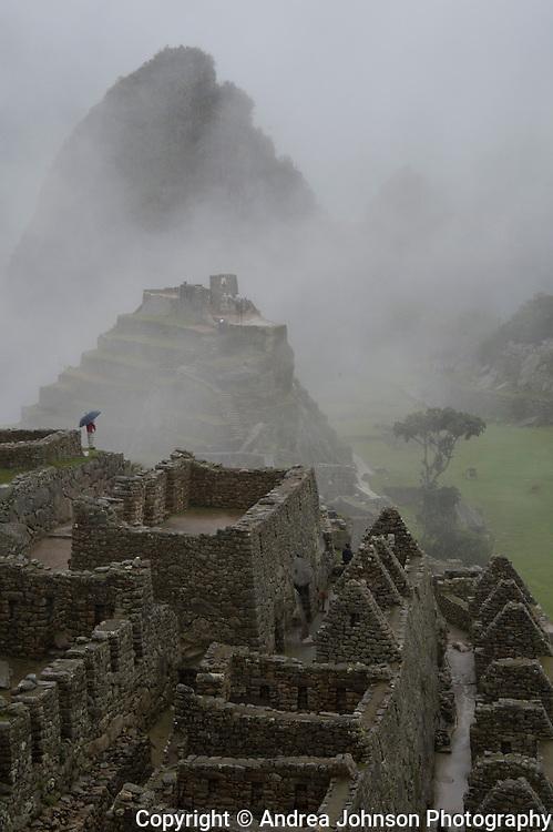 Foggy morning at Machu Picchu, Peru