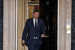 © Licensed to London News Pictures. 08/01/2018. London, UK. New Secretary of State for Justice David Gauke leaves 10 Downing Street as Prime Minister Theresa May reshuffles the Cabinet. Photo credit: Rob Pinney/LNP