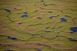 Aerial photograph of lakes and rivers in Snaefellsnes, Iceland - Loftmynd af vötnum og ám á Snæfellsnesi